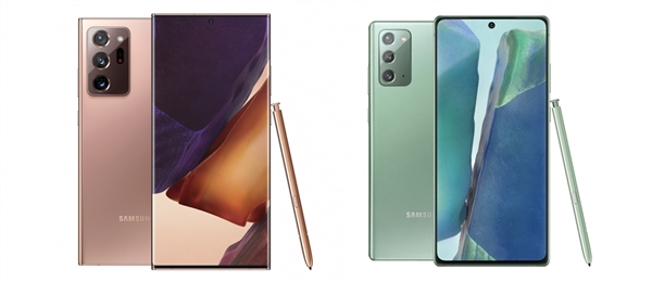 三星正式发布Galaxy Note 20:超级三摄、120Hz高刷
